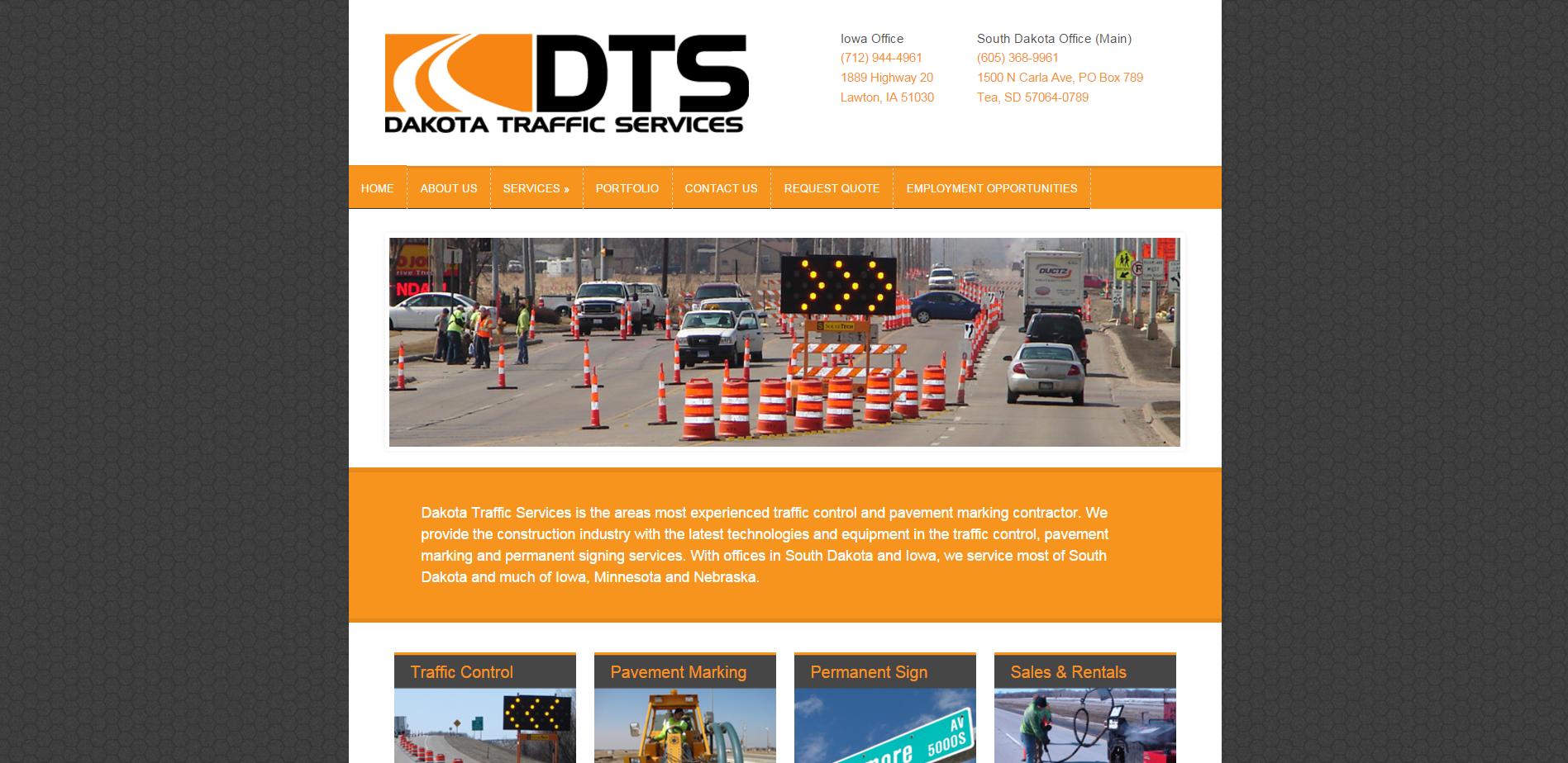 Dakota Traffic Services   Traffic control and pavement marking